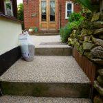 Steps using resin bonded gravel