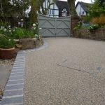 Natural finish with resin bonded stone by Drive-Cote Ltd