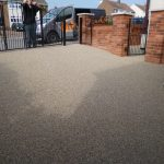anti skid resin bonded aggregate works Ollerton by Drive-Cote Ltd