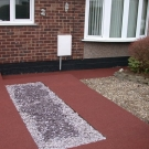 Detailed driveway access with slate and resin bonded stone