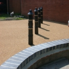 decorative walling and resin works for derby walkway
