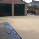 garage entrance using resin bound surfacing