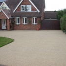 residential driveway entrance resin bound and bonded