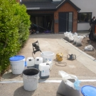 resin bonded grey bauxite drive prep work