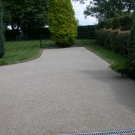 driveway resurfacing with natural resin bonded aggregate