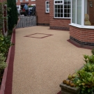natural and red resin driveway design