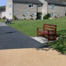 local comunity area with resin bound application