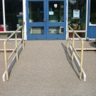 ramp with antislip surfacing for local school