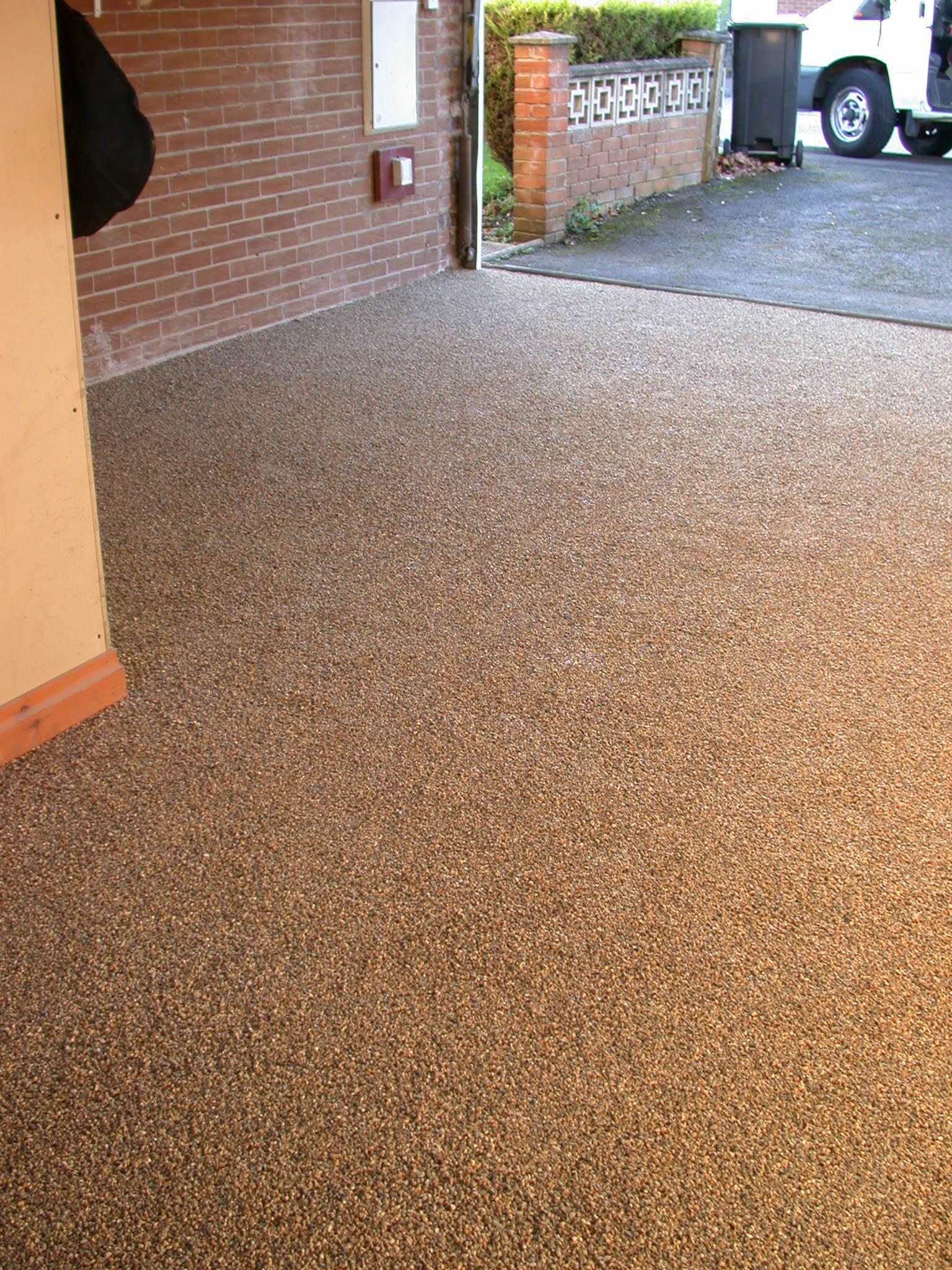 Resin Bonded Garage Floor In Hucknall Nottingham