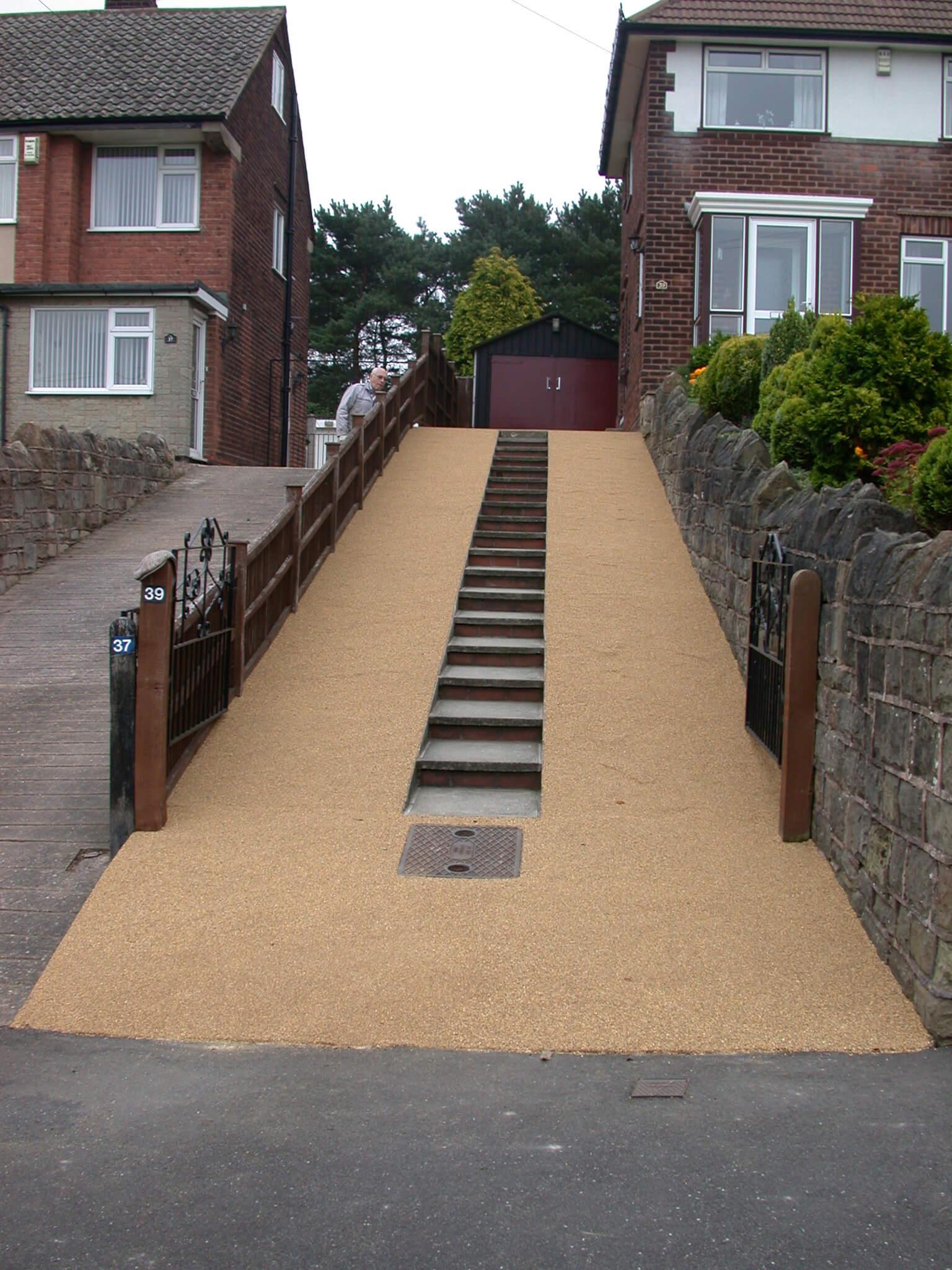Concrete Slope Resurfacing Anti slip Resin Bonded Aggregate