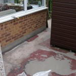 mansfield painted concrete before resin bonded aggregate