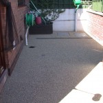 concrete patio requiring resin bonded aggregate