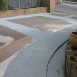 Nottingham resin driveway working project by Mansfield Drive-Cote Ltd