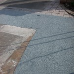 Green granite details for this driveway