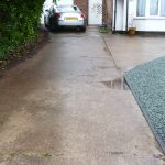 Resin bound driveway odour and staining