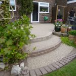 steps with resin bonded stone