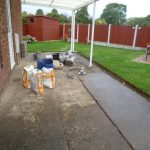 Clay Cross concrete surface in need of resin bonded stone