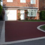 red resin bonded stone by Drive-Cote Ltd