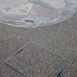 resin bonded install recessed manhole covers