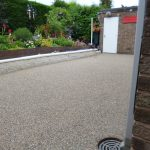 Resin uses existing concrete patio surface base
